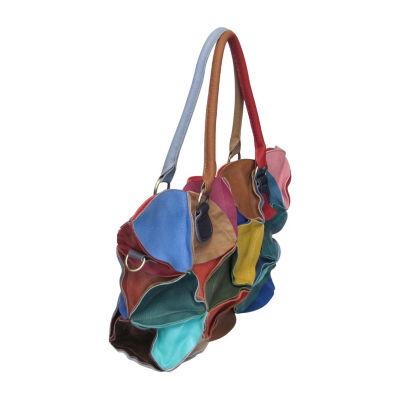 Amerileather Lotus Leather Tote Bag