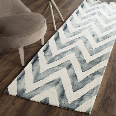 Safavieh Dip Dye Collection Ronnie Chevron Runner Rug