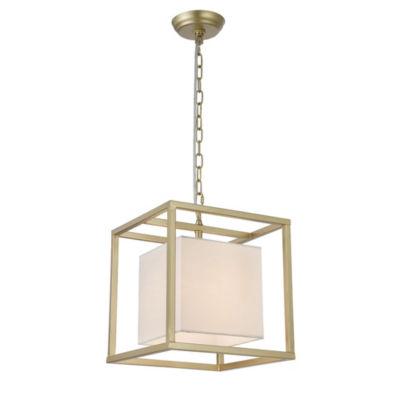 Lussa 1-Light Square Gold 12-Inch Pendant