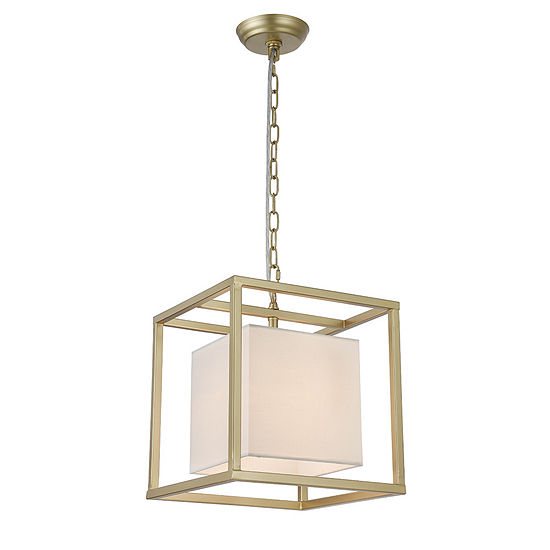 Lussa 1-Light Square Gold 12-Inch Pendant