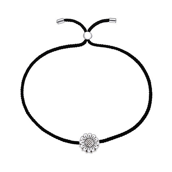 Footnotes Into The Wild Sterling Silver Flower Bolo Bracelet