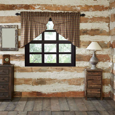 Rustic & Lodge Window Wyatt Prairie Swag Pair
