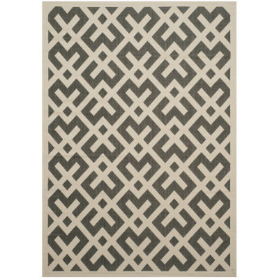 Safavieh Courtyard Collection Darrin Geometric Indoor/Outdoor Area Rug