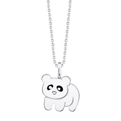 Footnotes Panda Womens Sterling Silver Pendant Necklace