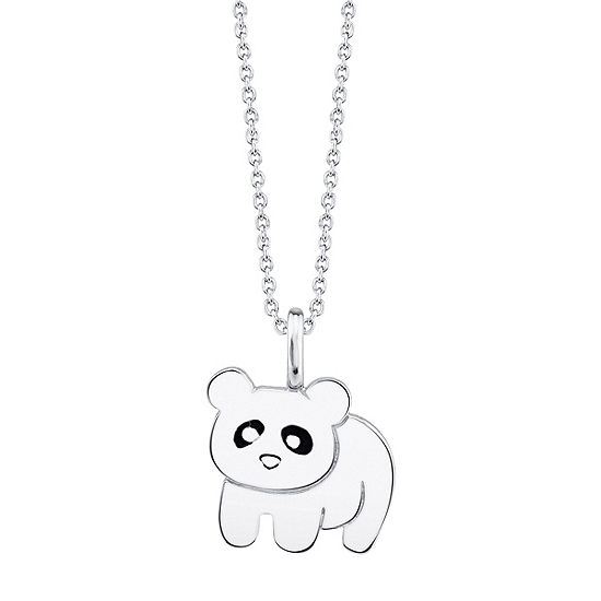 Footnotes Panda Womens Pendant Necklace