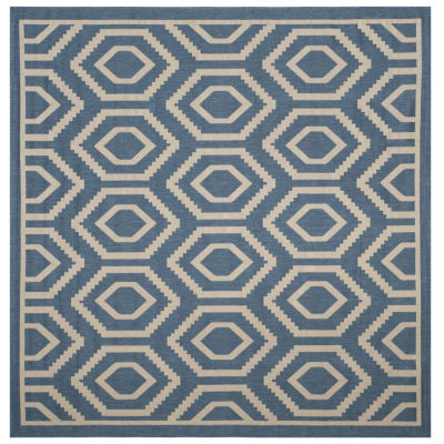 Safavieh Courtyard Collection Carmella Geometric Indoor/Outdoor Square Area Rug