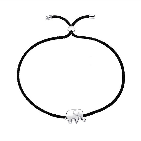 Footnotes Into The Wild Sterling Silver Bolo Bracelet