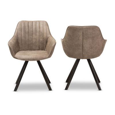 Baxton Studio Blanford 2-Piece Dining Chair Set