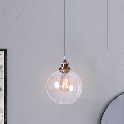 Shimar 1-Light Rose Gold Globe Chandelier Edison Bulb Included
