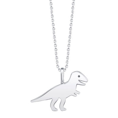 Footnotes T-Rex Womens Sterling Silver Pendant Necklace