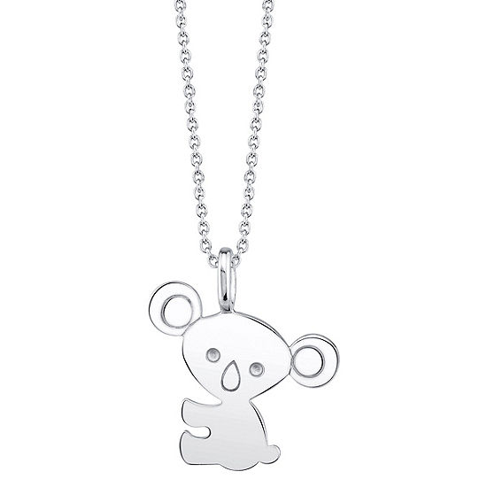 Footnotes Koala Womens Sterling Silver Pendant Necklace