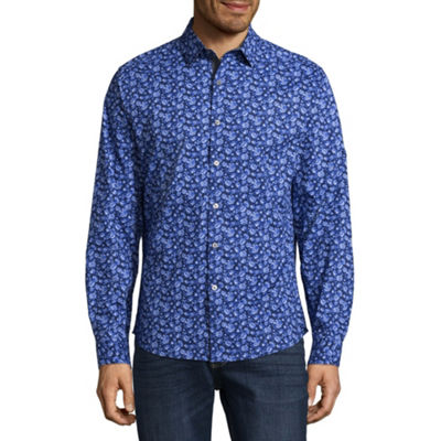 Claiborne Long Sleeve Button-Front Fun Shirt