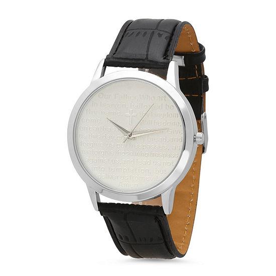 Steeltime Mens Black Strap Watch-998-010-W