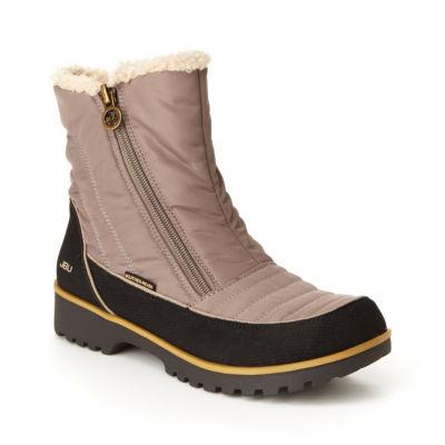 J Sport By Jambu Womens Snowbird Block Heel Zip Winter Boots