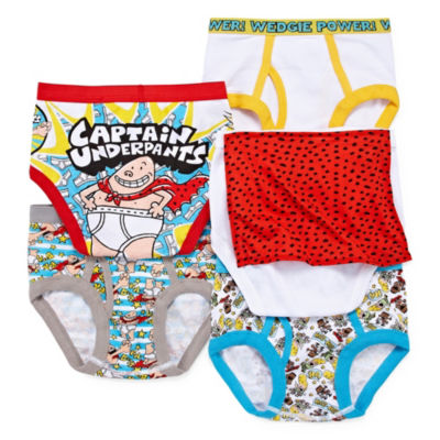 Captain Underpants Boys 5pk Briefs 5 Pair Briefs-Preschool Boys