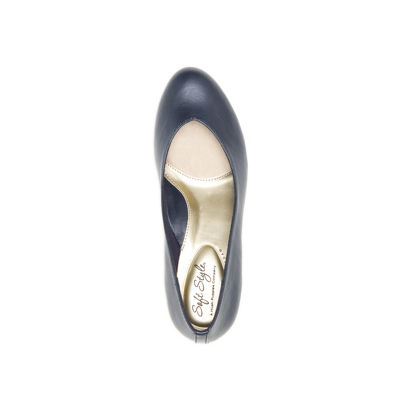 Hush Puppies Womens Gracee Pumps Slip-on Round Toe Block Heel