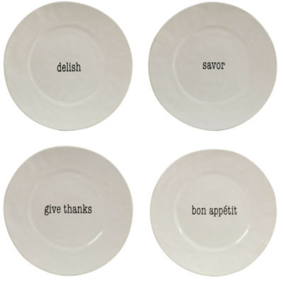 Certified International Just Words 4-pc. Dinner Plate