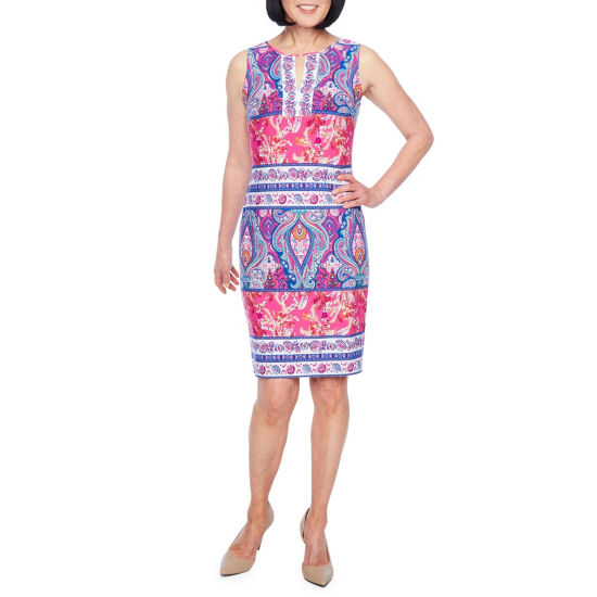 Liz Claiborne Sleeveless Pattern Shift Dress