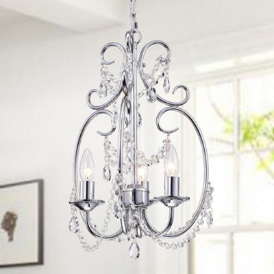 Abrilia 3-Light Candelabra Chrome Pendant