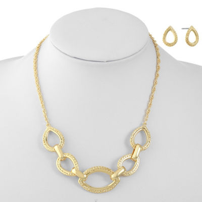 Monet Jewelry Womens Gold Tone 2-pc. Jewelry Set