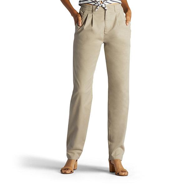 9101f26dc0f6a Lee® Side-Elastic Straight-Leg Twill Pants