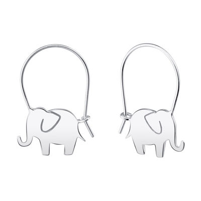 Footnotes Into The Wild Sterling Silver 20.5mm Hoop Earrings