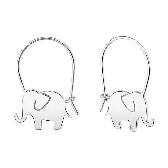 Footnotes Into The Wild Sterling Silver Hoop Earrings