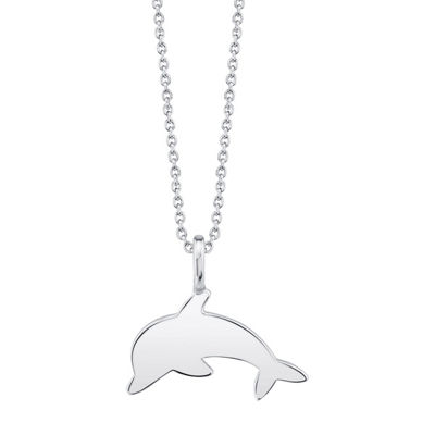 Footnotes Dolphin Womens Sterling Silver Pendant Necklace