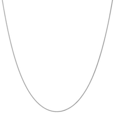 14K White Gold Solid Wheat 16-24 Inch Chain Necklace