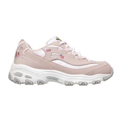 Skechers D'Lites Flower Womens Sneakers Lace-up