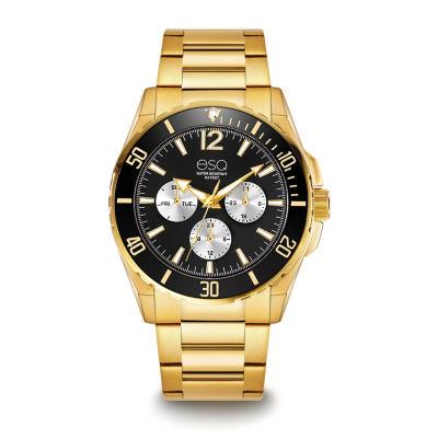 Esq Mens Gold Tone Bracelet Watch-37esq024301a