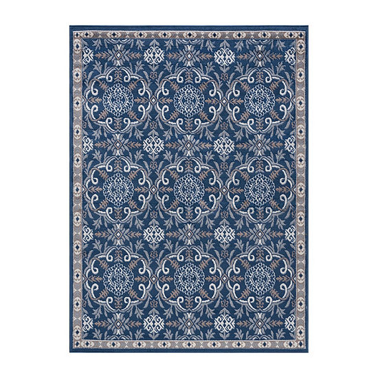 Tayse Izel Traditional Brocade Rug Collection