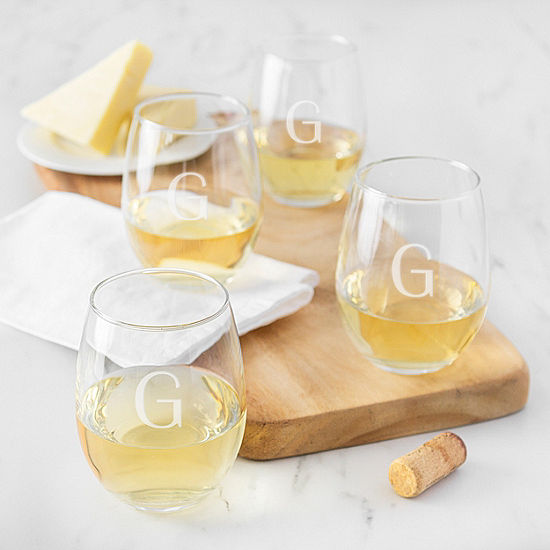 Cathy's Concepts 4-pc. Personalized Stemless Wine Glass