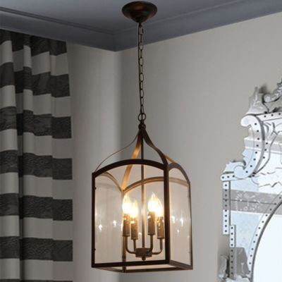 Suntin 4-Light Black Chandelier Edison Bulbs Included
