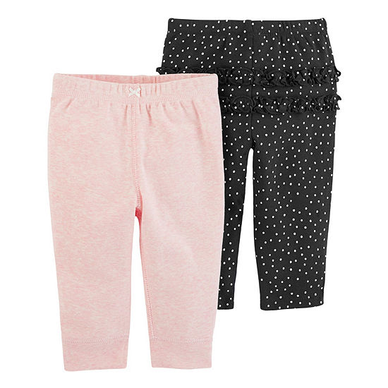 Carter's Girls 2-pc. Straight Pull-On Pants - Baby