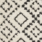 Safavieh Moroccan Fringe Shag Collection Alyx Geometric Square Area Rug