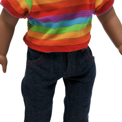 The Queen's Treasures Jeans & Rainbow Shirt Outfit 18 Inch Doll