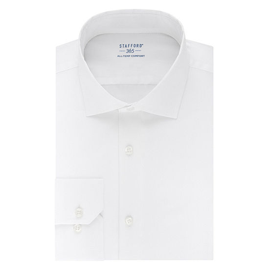 Stafford Mens Wrinkle Free 365 All-Temp Flex Collar Big and Tall Dress Shirt