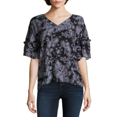 A.N.A Ruffle Sleeve Top - Tall