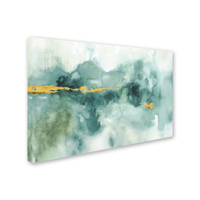 Trademark Fine Art Lisa Audit My Greenhouse Abstract I Crop Blue Giclee Canvas Art