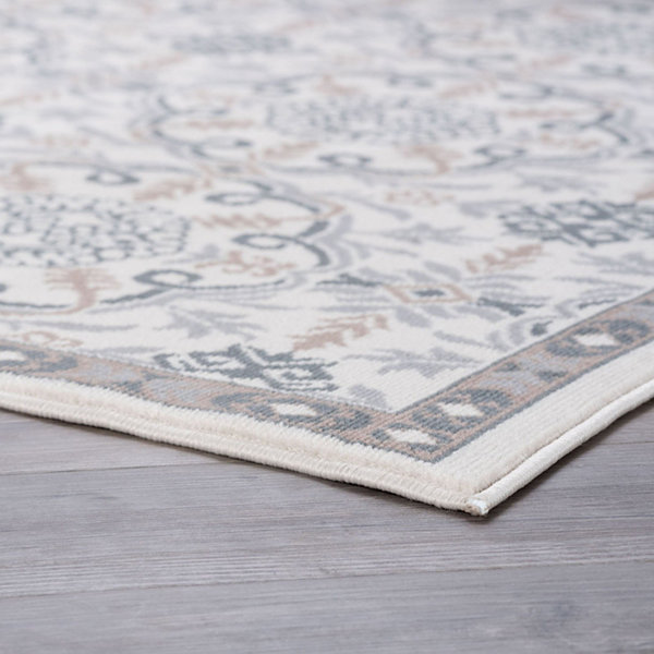 Tayse Izel Traditional Brocade Area Rug