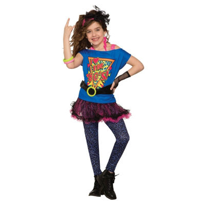 Girls Totally 80's Costume