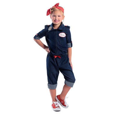Girls Rosie The Riveter Costume