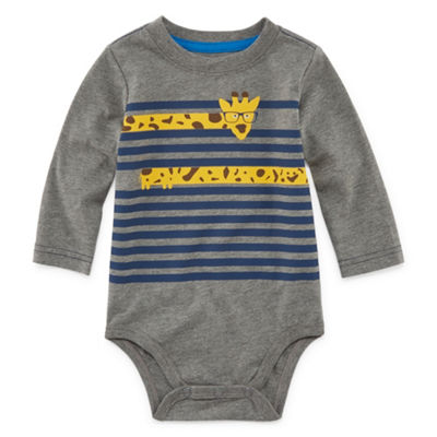 Okie Dokie Graphic Long Sleeve Bodysuit - Baby Boy NB-24M