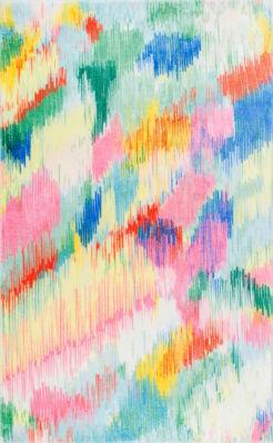 nuLoom Surreal Canvas Raye Shaggy Round Area Rug