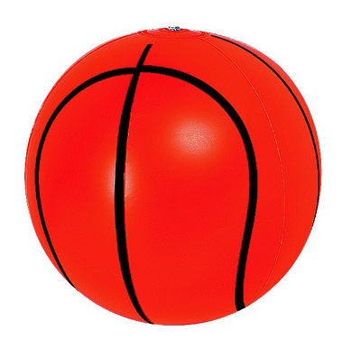 "RhinoMaster Play Blow Up Big Basketball - 16"" Inflatable Beach Ball"