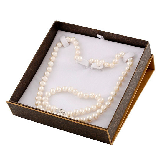 White Cultured Freshwater Pearl 3-pc. Jewelry Set