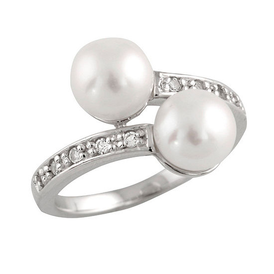 Womens 2mm 7mm White Cultured Freshwater Pearl Band