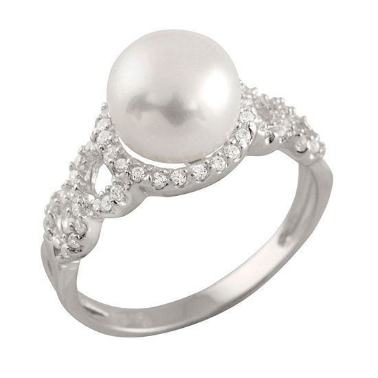 Womens 3mm 8mm White Cultured Freshwater Pearl Band