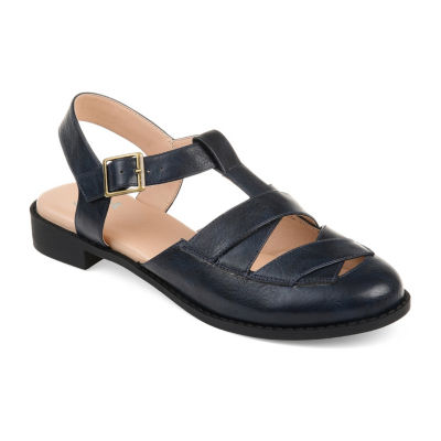 Journee Collection Womens Jc Bonita Slip-On Shoes Buckle Round Toe